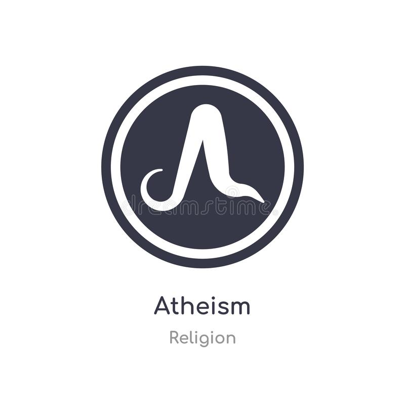 Atheism icon. isolated atheism icon vector illustration from religion collection. editable sing symbol can be use for web site and. Mobile app vector illustration