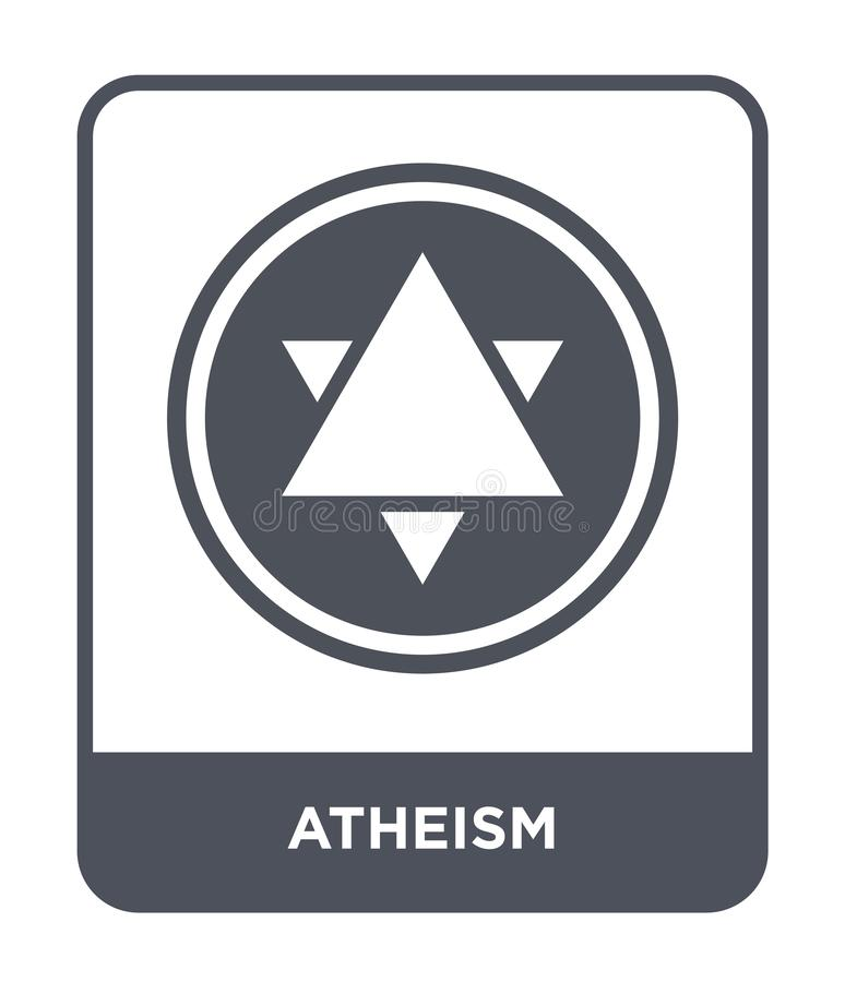 atheism icon in trendy design style. atheism icon isolated on white background. atheism vector icon simple and modern flat symbol royalty free illustration