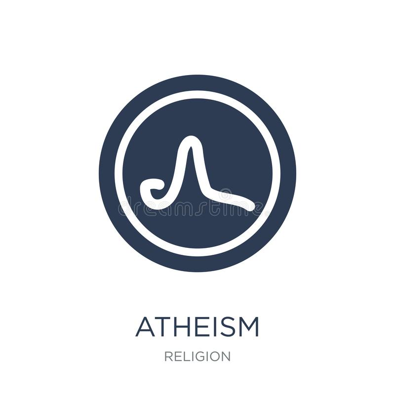 atheism icon. Trendy flat vector atheism icon on white background from Religion collection vector illustration