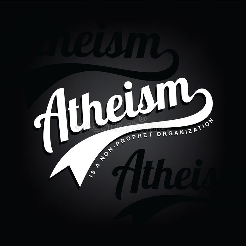 Atheism theme - against religious ignorance campaign. Art vector illustration