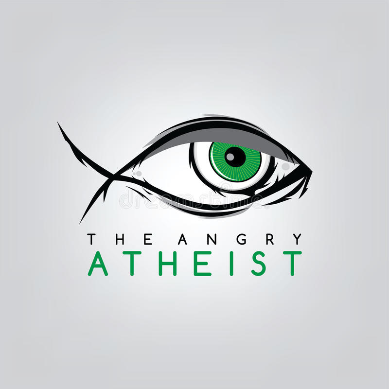 atheism theme - against religious ignorance campaign stock illustration