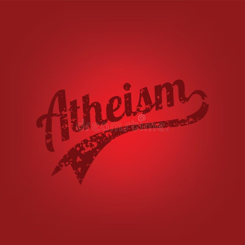 atheism theme - against religious ignorance campaign stock illustration