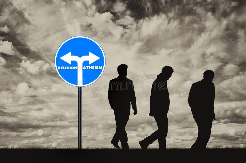 atheism Tres ateos de los hombres imágenes de archivo libres de regalías