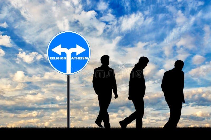 atheism Tres ateos de los hombres foto de archivo libre de regalías
