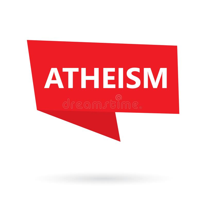 Atheism word on a speach bubble stock illustration