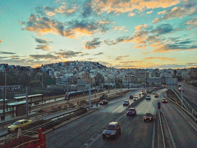 Athen在黎明 图库摄影