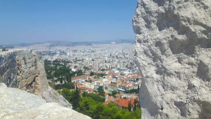 Athen del top el día de fiesta en verano imagenes de archivo