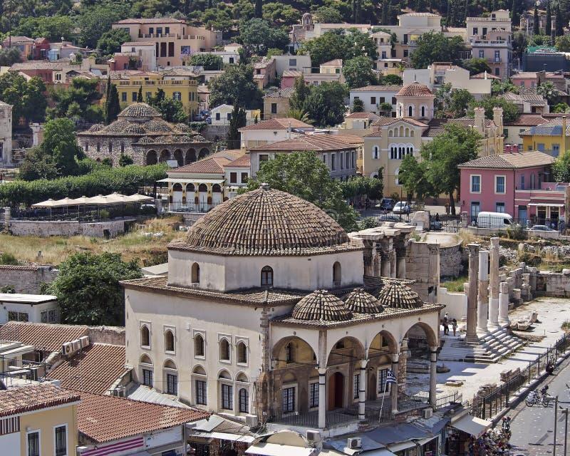 Athen Griechenland, Plaka und Monastiraki lizenzfreies stockbild