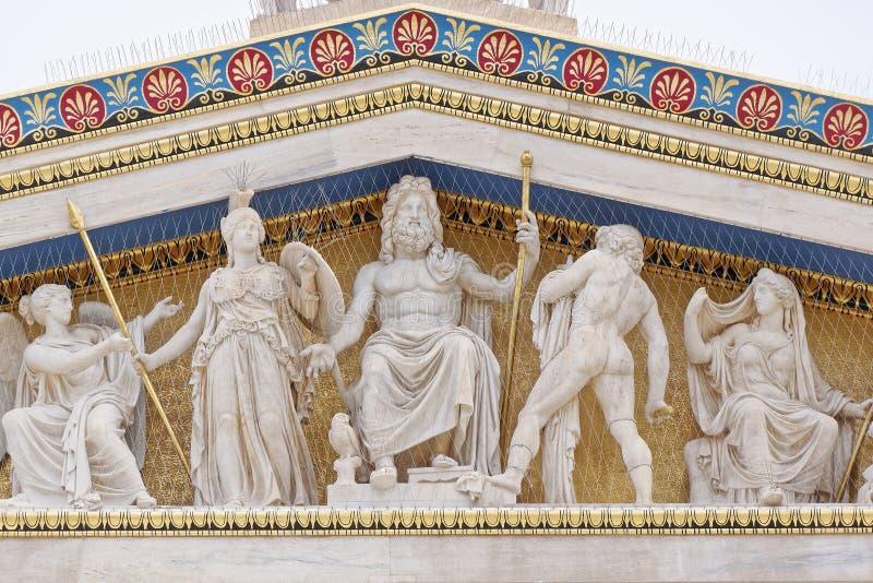 Athen Griechenland, Zeus, Athene und andere altgriechische Götter und Gottheiten lizenzfreies stockfoto