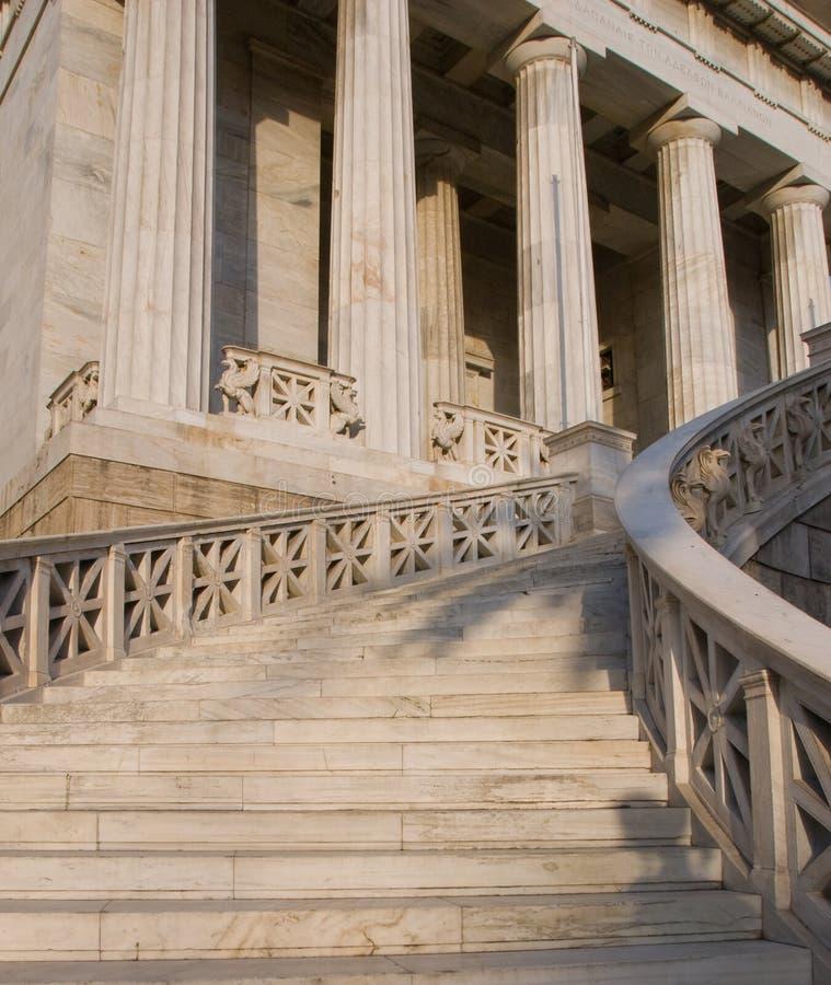 Athen-Hochschulgebäude Eingang stockfoto