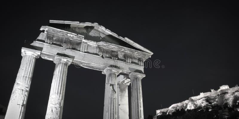 Athen-Monumente stockbilder