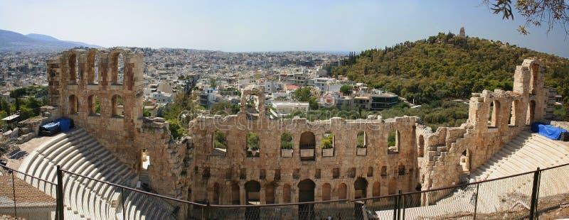 Athen - Panorama lizenzfreie stockfotos