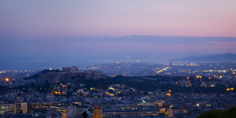 Athen-Panorama lizenzfreie stockfotografie