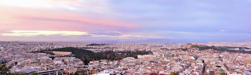 Athen-Panorama lizenzfreie stockbilder