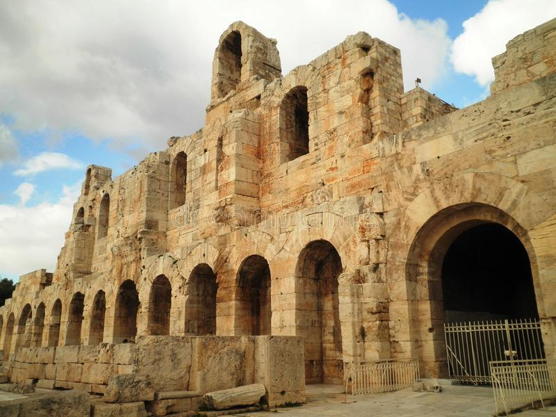 Athen ruiniert Griechenland lizenzfreies stockfoto