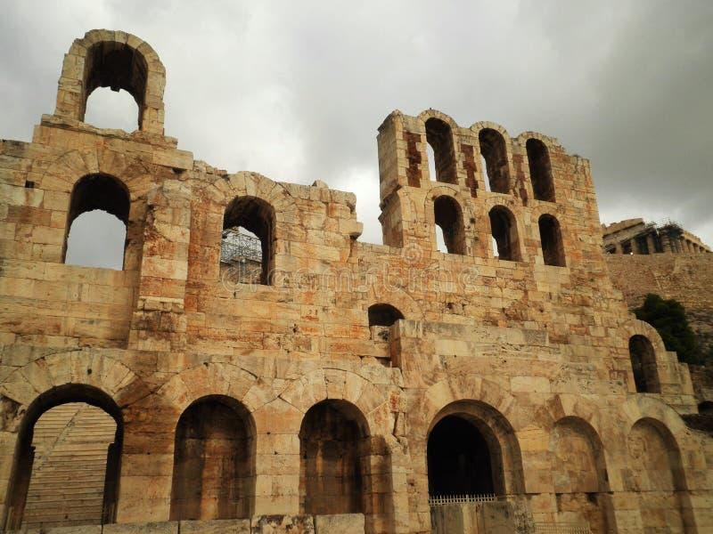 Athen ruiniert Griechenland lizenzfreies stockbild
