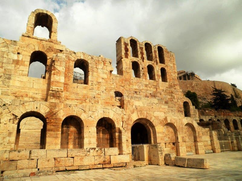 Athen ruiniert Griechenland stockfotos