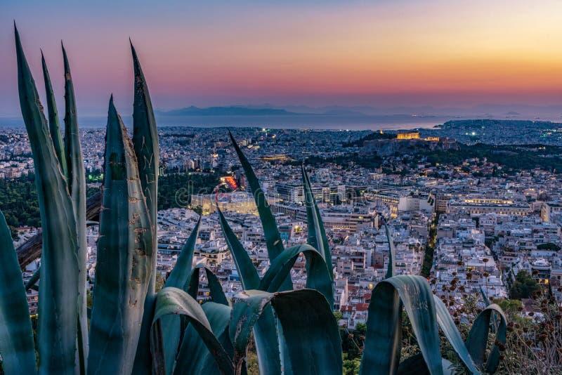 Athen-Skyline stockfotos