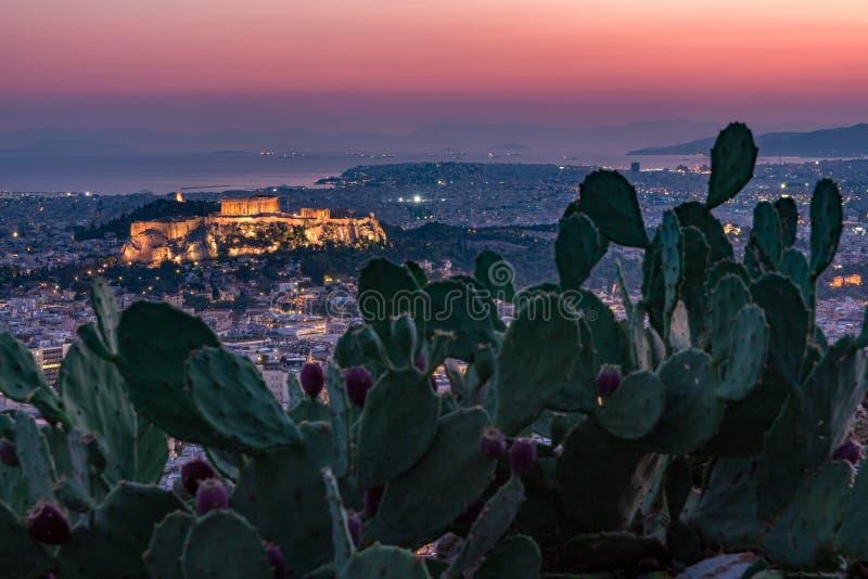 Athen-Skyline lizenzfreies stockfoto