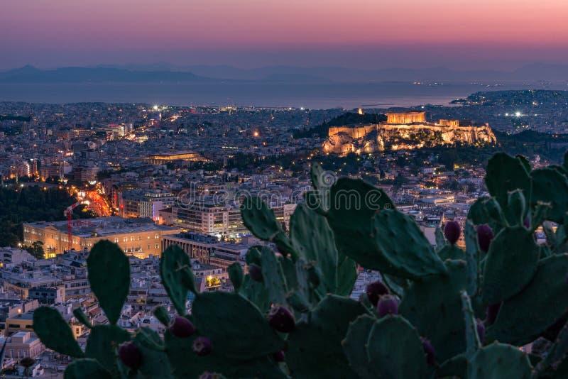 Athen-Skyline lizenzfreie stockfotos
