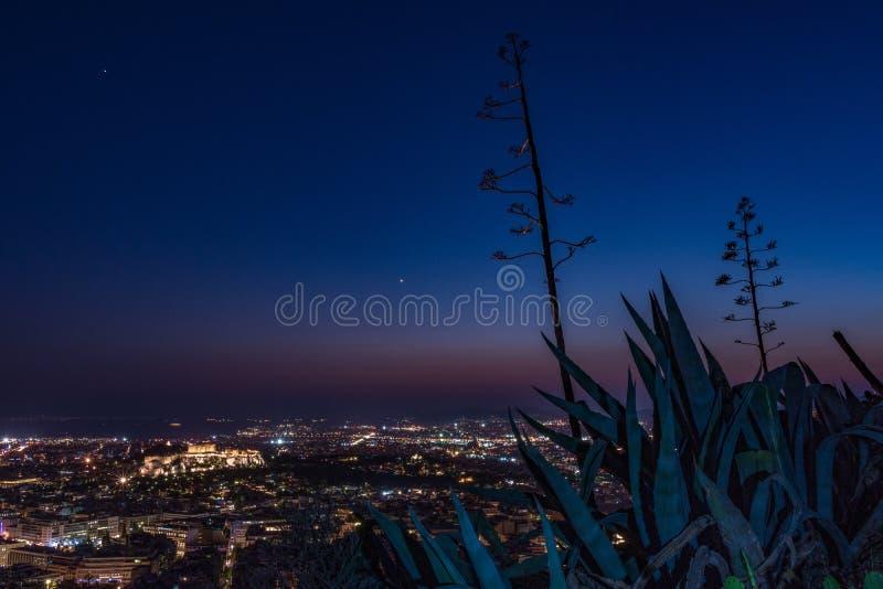 Athen-Skyline stockbild