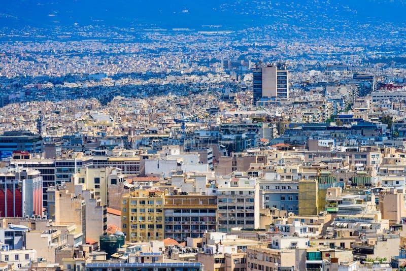 Athen-Stadt-Ansicht lizenzfreie stockfotos