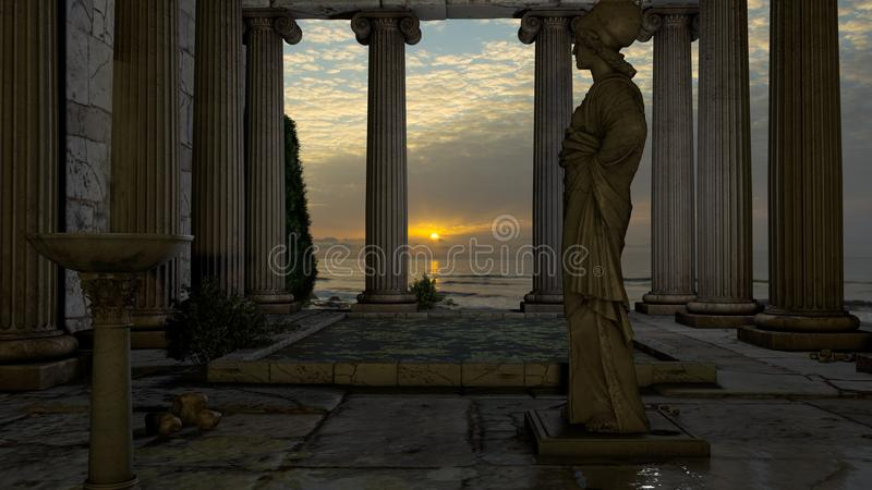 athena świątynia fotografia stock