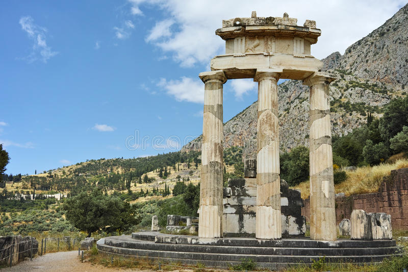 athena Delphi Greece pronaia sanktuarium fotografia stock