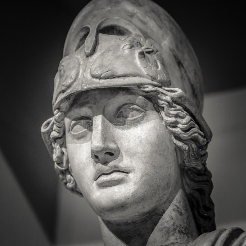 Athena a deusa do grego clássico fotos de stock
