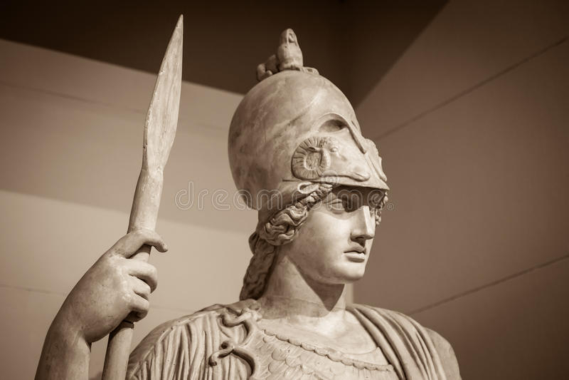 Athena a deusa do grego clássico fotografia de stock royalty free