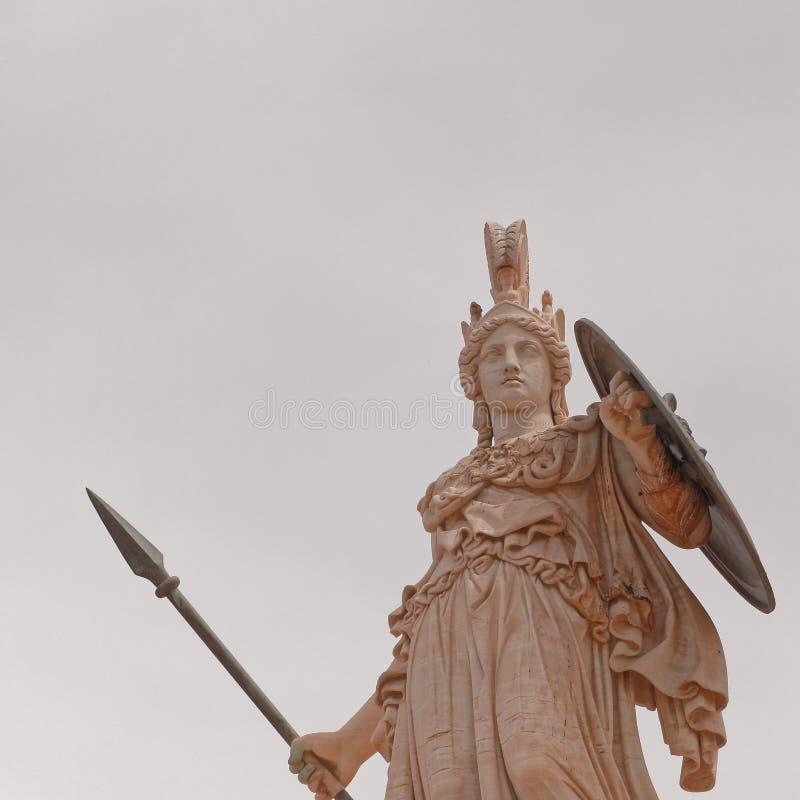 Athena gammalgrekiskagudinnan av kunskap och vishet royaltyfri bild