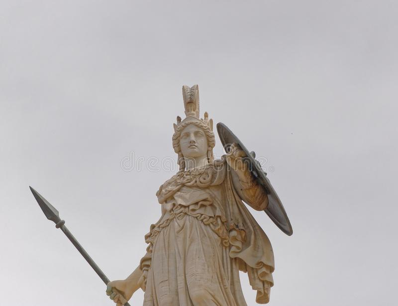 Athena gammalgrekiskagudinnan av kunskap och vishet royaltyfri fotografi