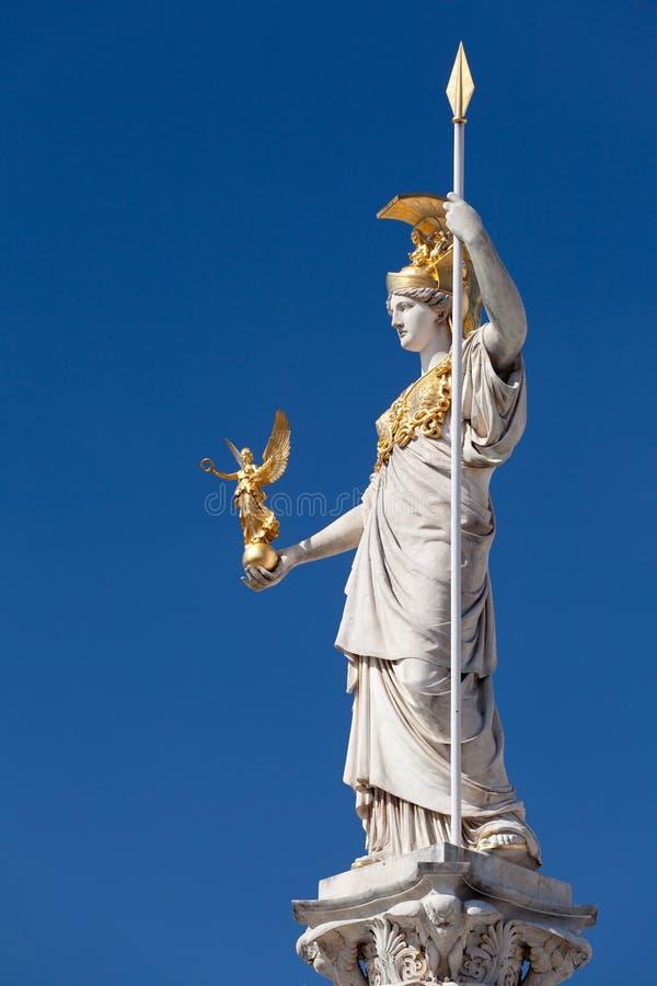 Athena, goddess of greek mythology. Symbol for law and justice royalty free stock photography
