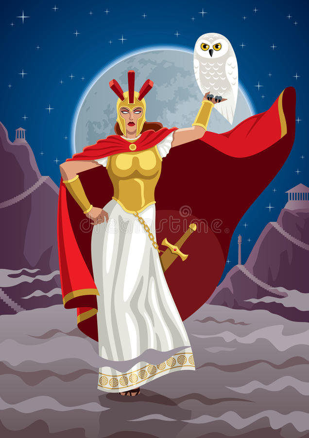 Athena stock illustration
