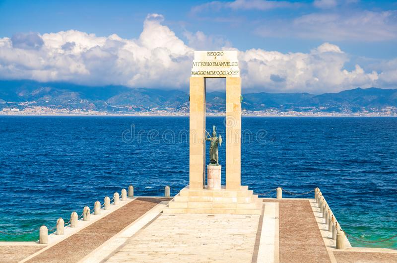 Athena goddess Statue, Reggio di Calabria, Southern Italy royalty free stock image