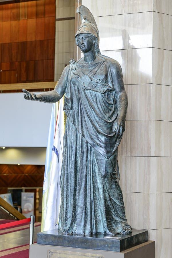 Athena Grecka bogini mądrość i wiedza zdjęcie royalty free