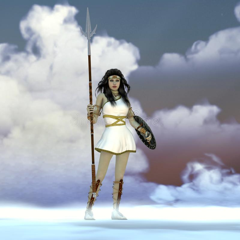 Athena Greek Goddess image stock
