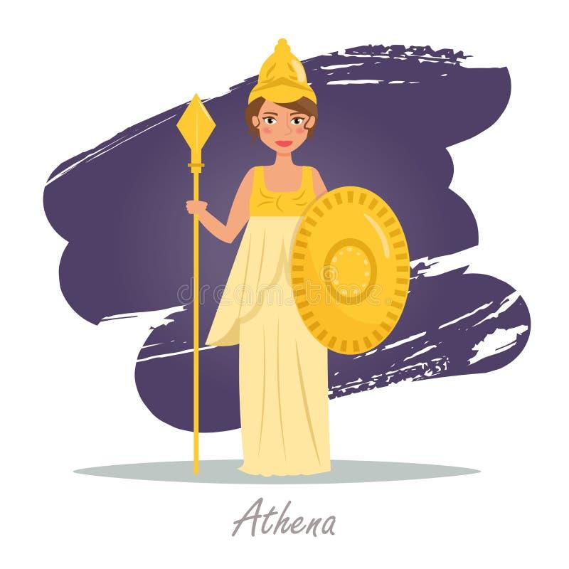 Athena. Greek gods. Vector royalty free illustration