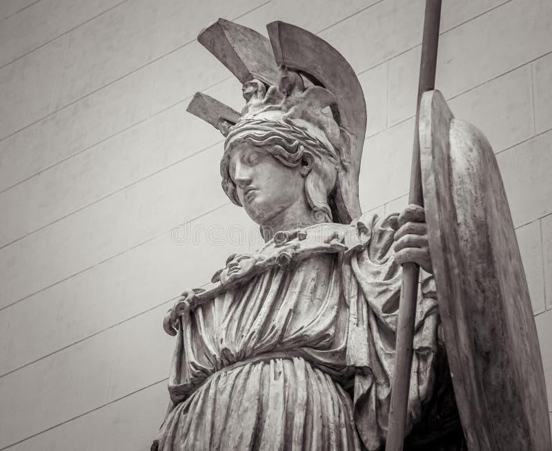Athena Greek gudinna av vishet och vetenskap arkivfoto