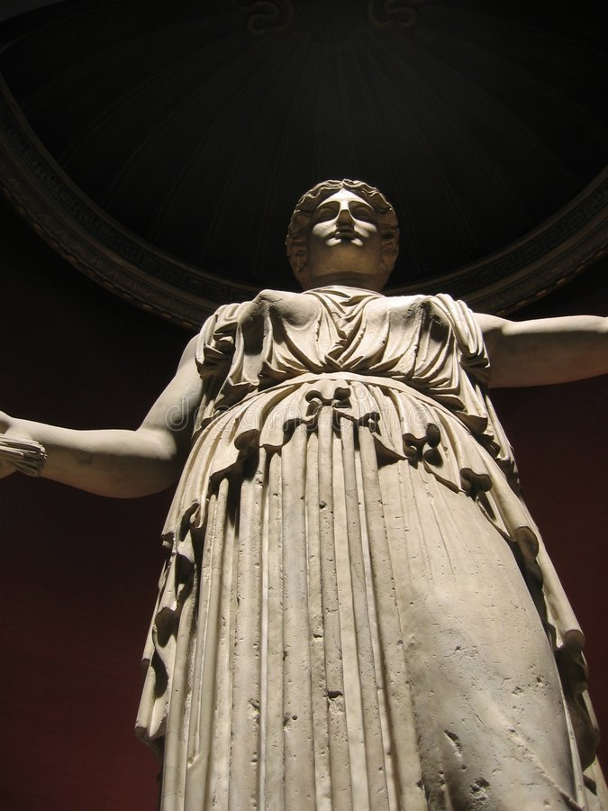 athena gudinnastaty arkivbild