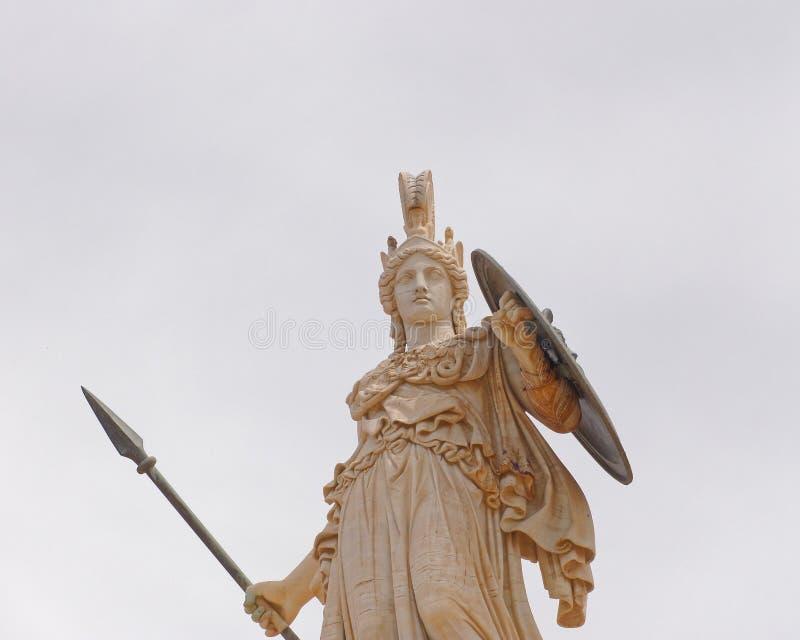 Athena la diosa del griego clásico del conocimiento y de la sabiduría imagen de archivo
