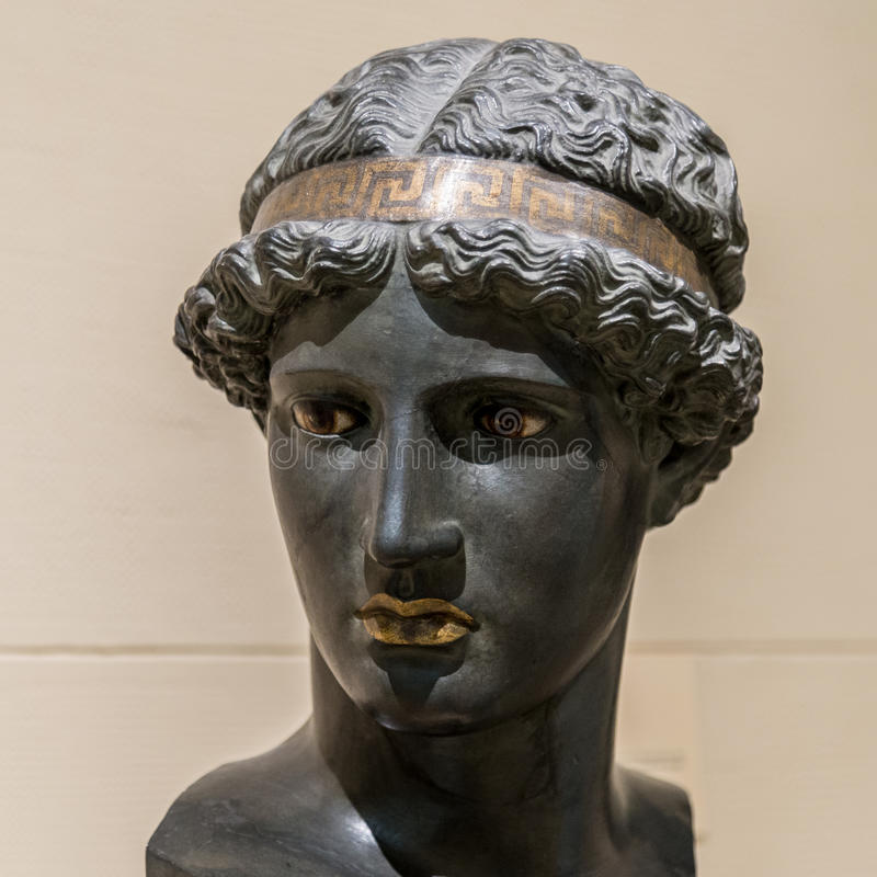 Athena Lemnia a deusa do grego clássico imagem de stock royalty free