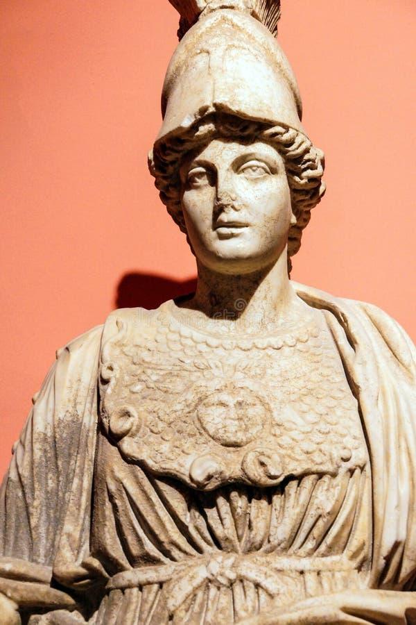 Athena (Minerva) gudinna av vishet arkivfoto