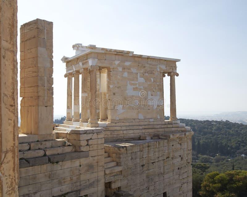Athena (Minerva) Nike, Acropolis, Atenas fotos de stock