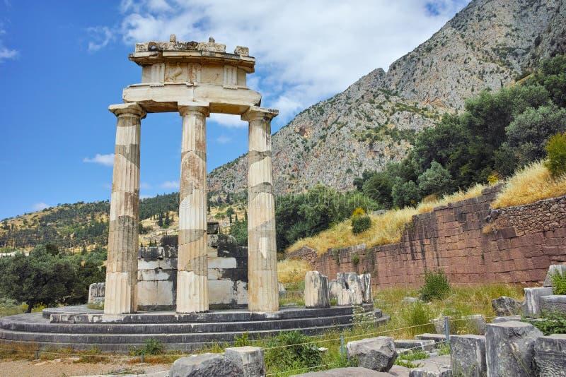 Athena Pronaia Sanctuary à Delphes images stock