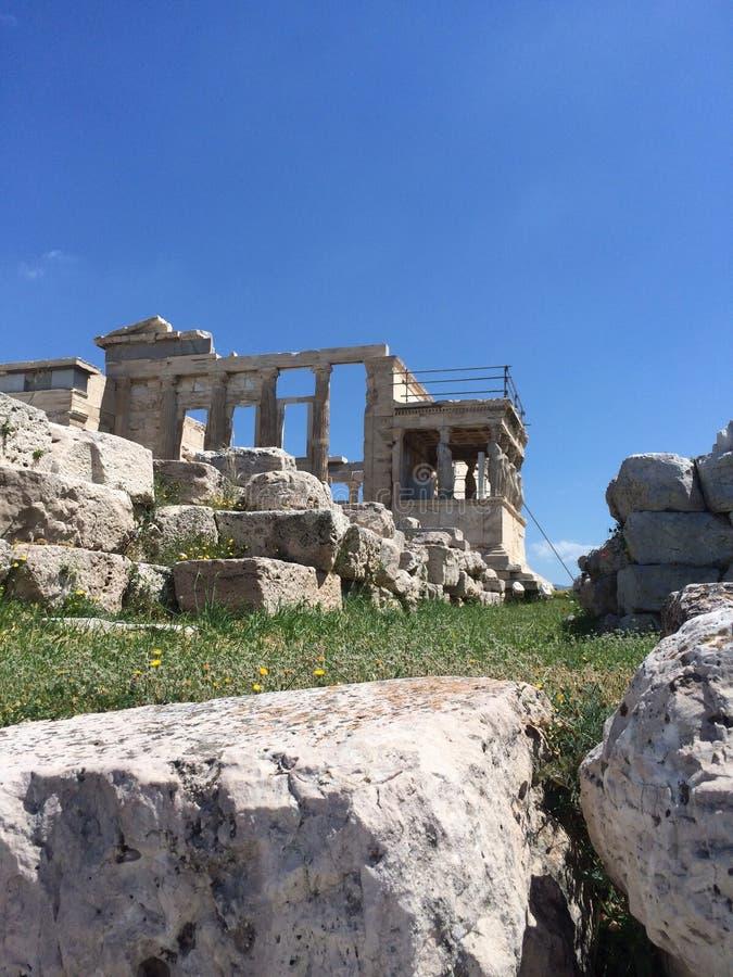 athena tempel royaltyfri fotografi