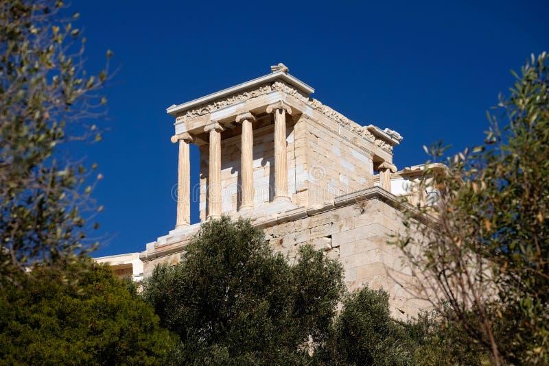 Athena Temple Acropolis fotografia stock libera da diritti