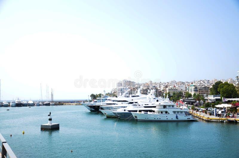 Athena-zeehaven stock fotografie