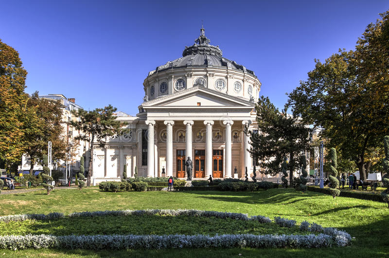 athenaeum beautiful bucharest building most one photogenic romanian world στοκ εικόνες