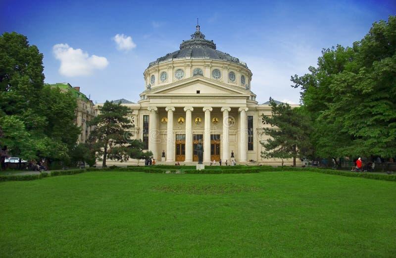 Athenaeum in Boekarest stock fotografie
